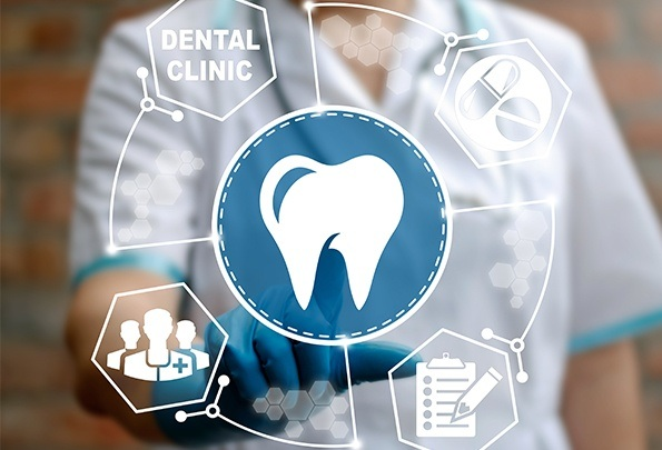 Animation of dental claims process